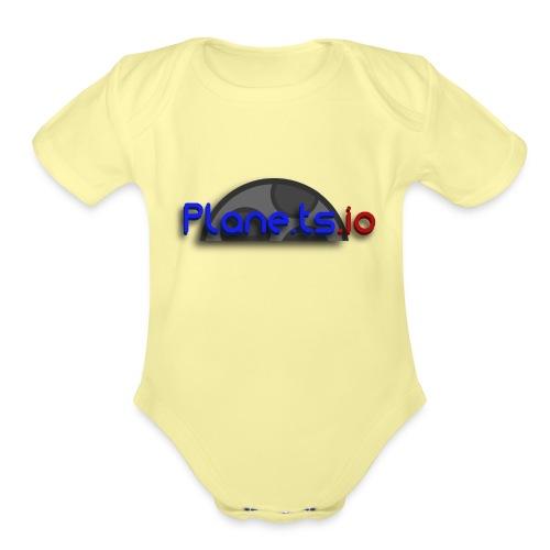 biglogo - Organic Short Sleeve Baby Bodysuit