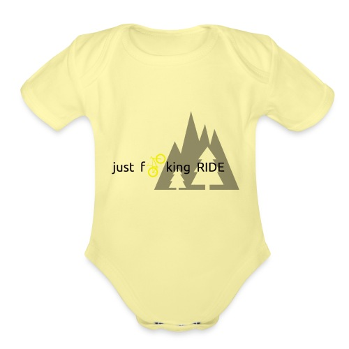 Mountain Biking JFR - Organic Short Sleeve Baby Bodysuit
