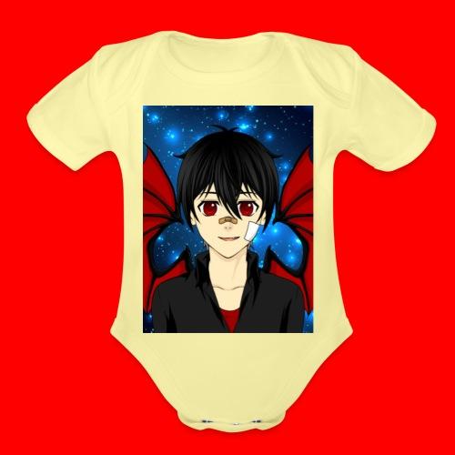 vampire boy kryotic - Organic Short Sleeve Baby Bodysuit