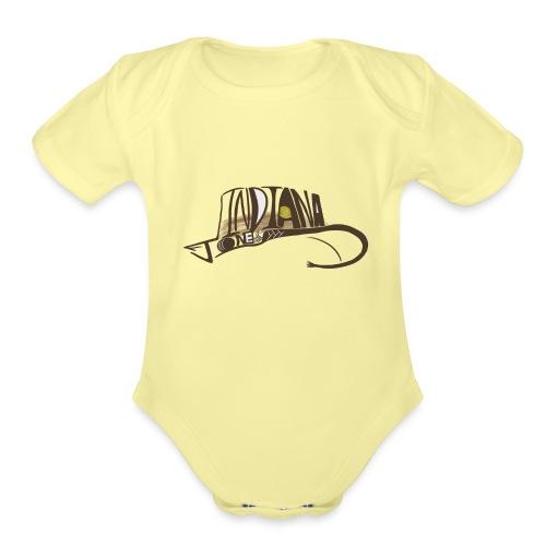 Wear The Hat - Organic Short Sleeve Baby Bodysuit