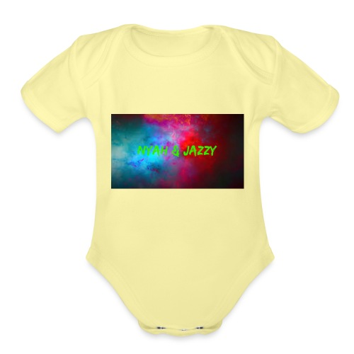 NYAH AND JAZZY - Organic Short Sleeve Baby Bodysuit