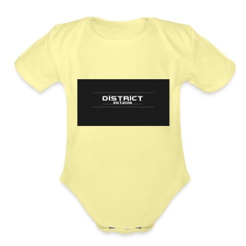 District apparel - Organic Short Sleeve Baby Bodysuit