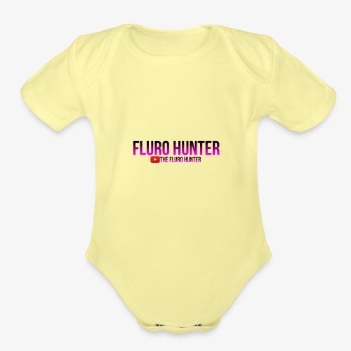 The Fluro Hunter Black And Purple Gradient - Organic Short Sleeve Baby Bodysuit