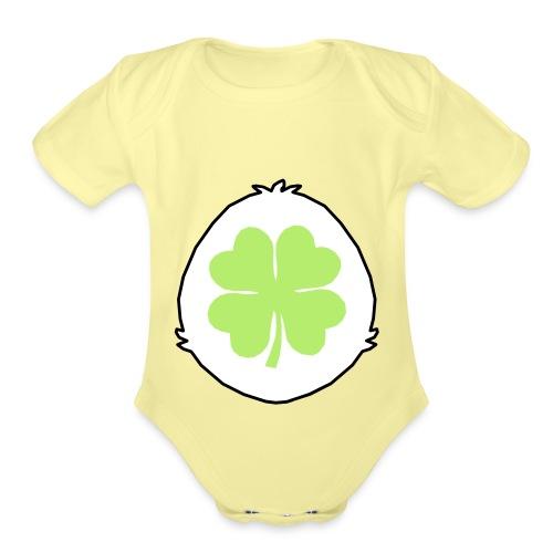 Lucky Bear Belly - Organic Short Sleeve Baby Bodysuit