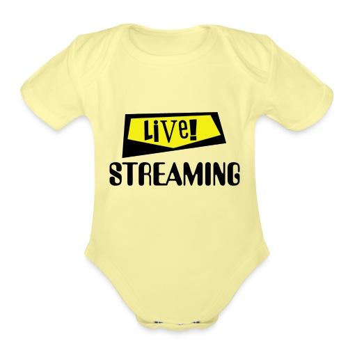 Live Streaming - Organic Short Sleeve Baby Bodysuit