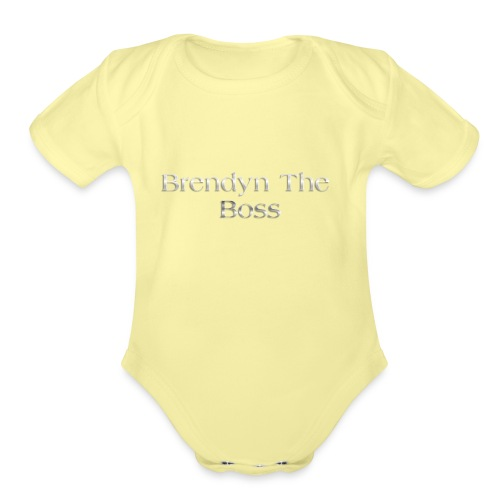 Brendyn The Boss - Organic Short Sleeve Baby Bodysuit