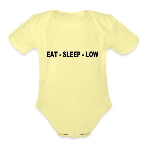 Eat. Sleep. Low - Organic Short Sleeve Baby Bodysuit