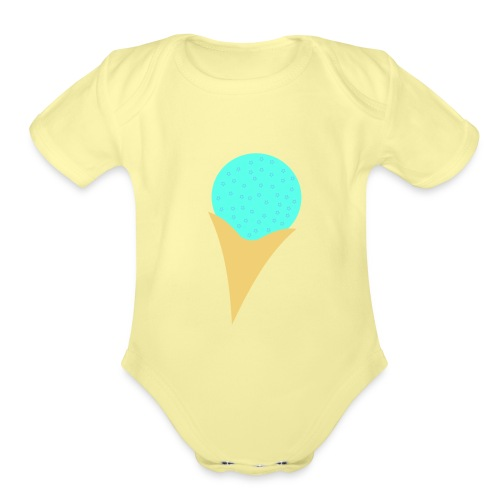 Bubble Gum Ice-Cream - Organic Short Sleeve Baby Bodysuit