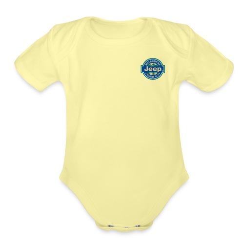 MJOC color logo png - Organic Short Sleeve Baby Bodysuit