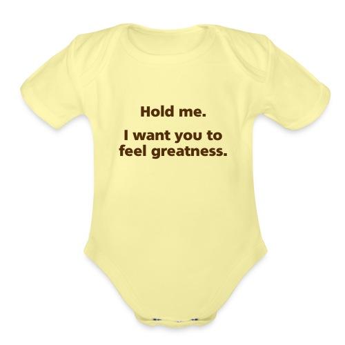 holdme simple - Organic Short Sleeve Baby Bodysuit
