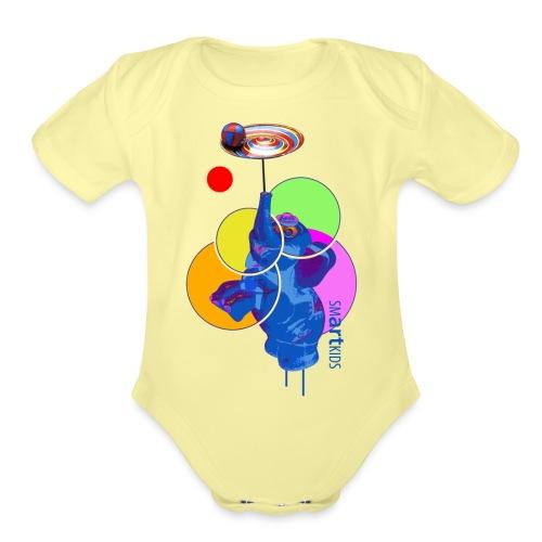 smARTkids - Mumbo Jumbo - Organic Short Sleeve Baby Bodysuit