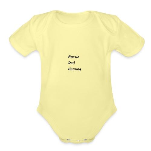 Basic AussieDadGaming - Organic Short Sleeve Baby Bodysuit