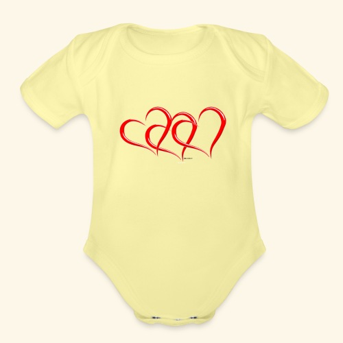3hrts - Organic Short Sleeve Baby Bodysuit