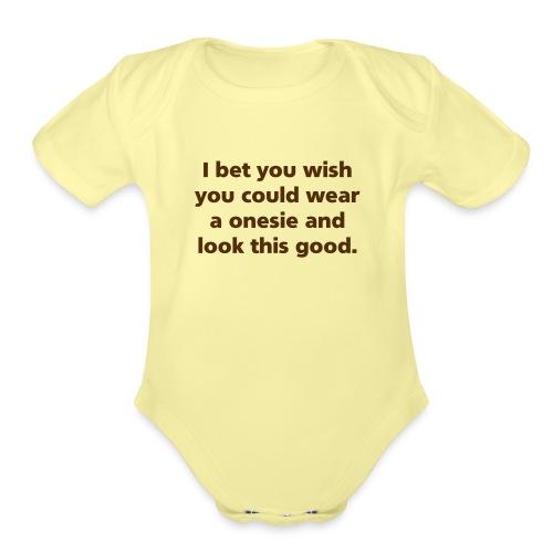 0nesie - Organic Short Sleeve Baby Bodysuit