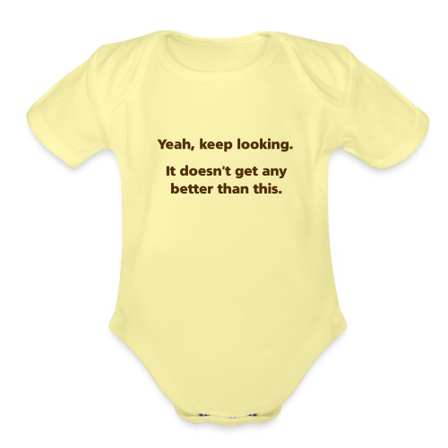 keeplooking simple - Organic Short Sleeve Baby Bodysuit