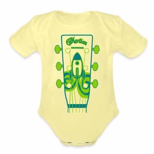 Martian Monster - Organic Short Sleeve Baby Bodysuit
