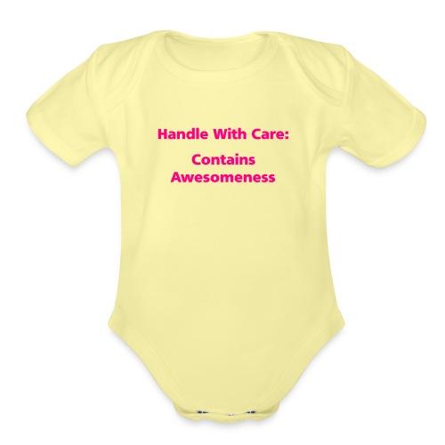 handlewithcare - Organic Short Sleeve Baby Bodysuit