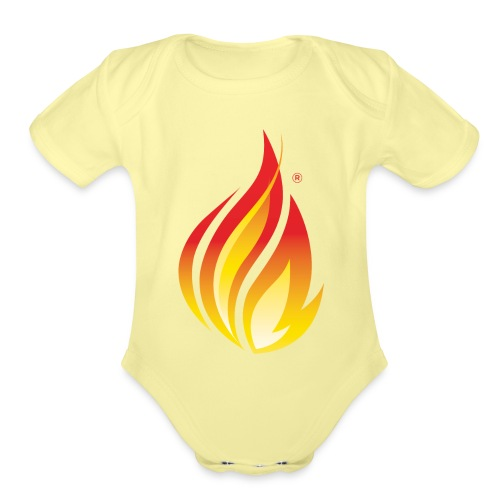 HL7 FHIR Flame Logo - Organic Short Sleeve Baby Bodysuit