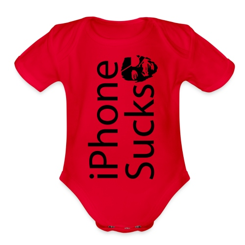 iPhone Sucks - Organic Short Sleeve Baby Bodysuit