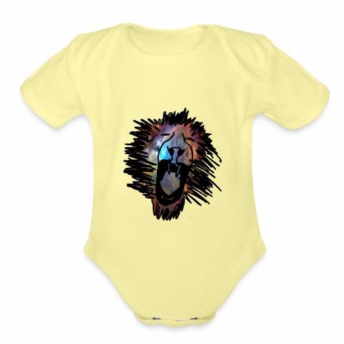 Galaxy Lion - Organic Short Sleeve Baby Bodysuit
