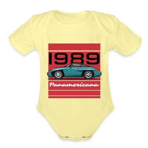1989 P0r5che Panamericana Concept Car - Organic Short Sleeve Baby Bodysuit
