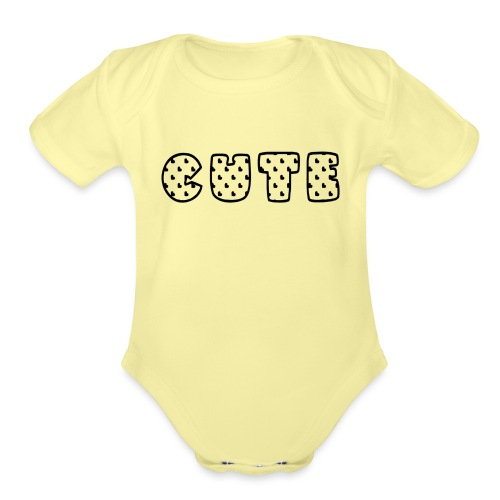 cute.png - Organic Short Sleeve Baby Bodysuit