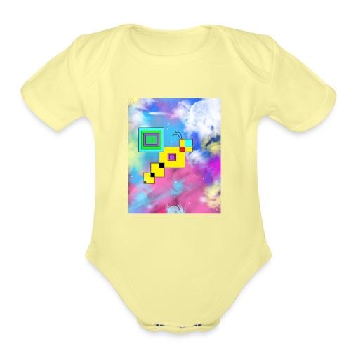 Cosmic Bee - Organic Short Sleeve Baby Bodysuit