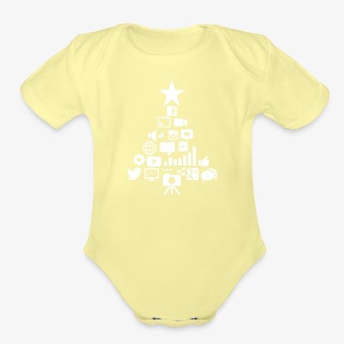 Social Blade Christmas Tr - Organic Short Sleeve Baby Bodysuit