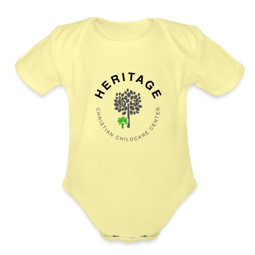 HCCC Front Logo - Organic Short Sleeve Baby Bodysuit