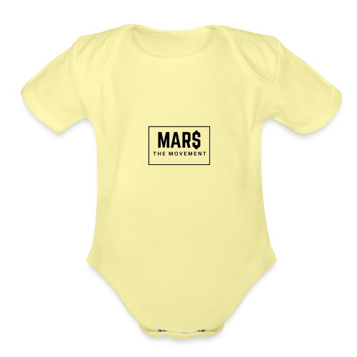 MAR$ Orginal White T-Shirt - Organic Short Sleeve Baby Bodysuit
