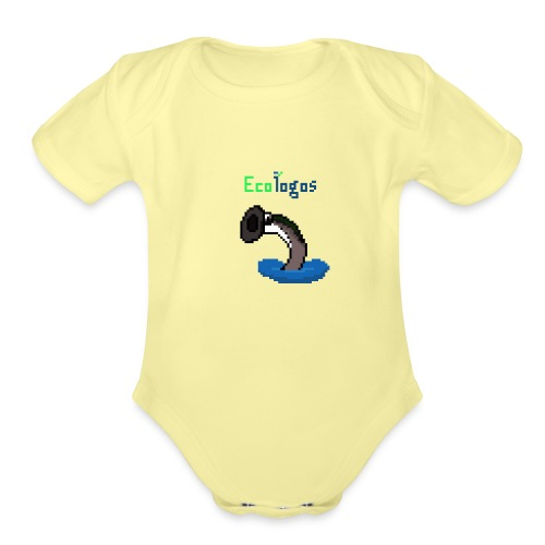Pixel Sea Lamprey - Organic Short Sleeve Baby Bodysuit