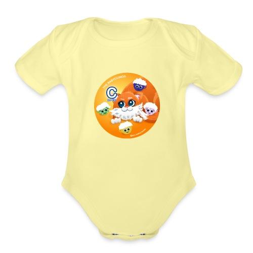 The Babyccinos The letter С - Organic Short Sleeve Baby Bodysuit