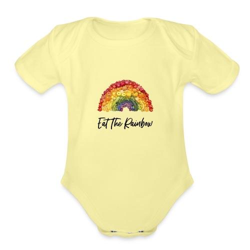 Eat The Rainbow - Organic Short Sleeve Baby Bodysuit