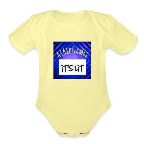 Ataidgames - Organic Short Sleeve Baby Bodysuit