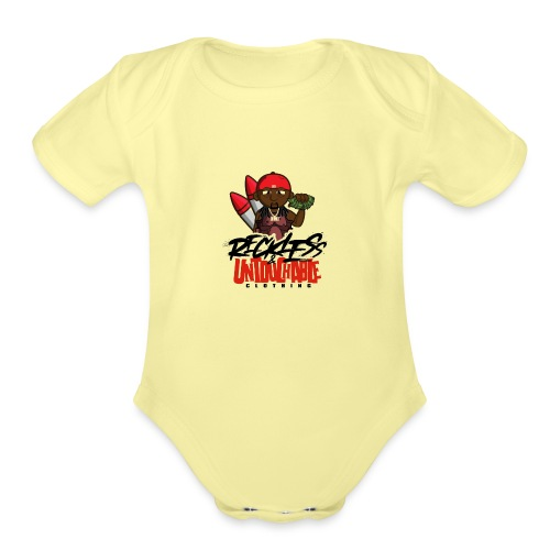 Reckless and Untouchable_1 - Organic Short Sleeve Baby Bodysuit