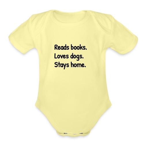 Loves Dogs - Organic Short Sleeve Baby Bodysuit