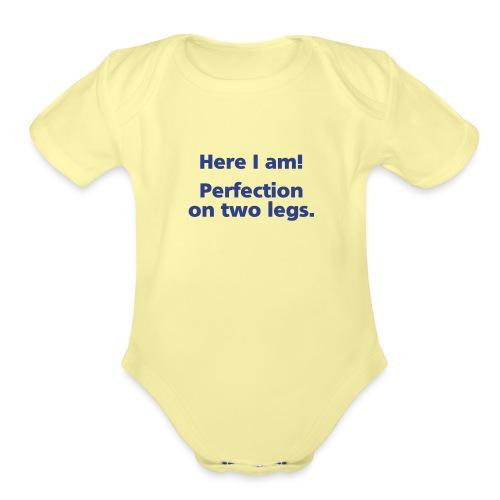 perfection simple - Organic Short Sleeve Baby Bodysuit