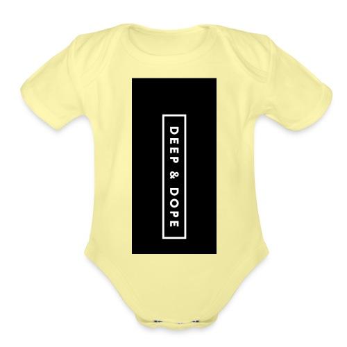 deepdope i5 - Organic Short Sleeve Baby Bodysuit