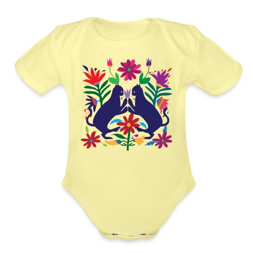 Otomi Cats S by TeeNERD - Organic Short Sleeve Baby Bodysuit