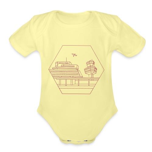 Airport Tegel in Berlin - Organic Short Sleeve Baby Bodysuit