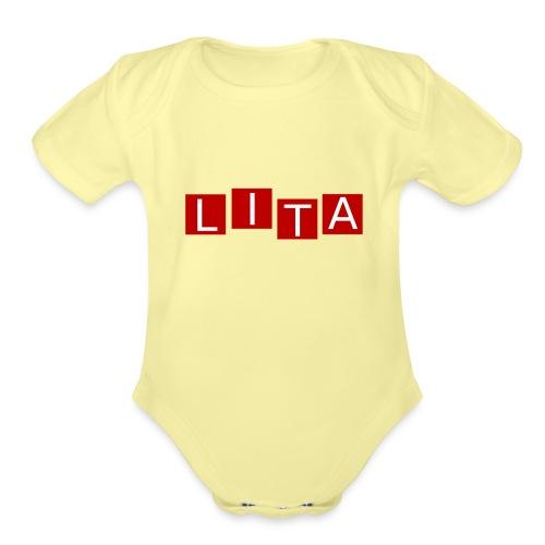 LITA Logo - Organic Short Sleeve Baby Bodysuit