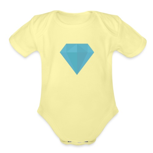 long sleeve Diamond shirt - Organic Short Sleeve Baby Bodysuit