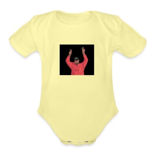 yeezus - Organic Short Sleeve Baby Bodysuit