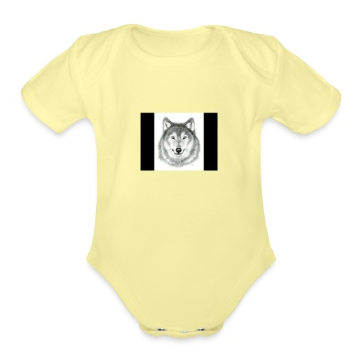Wolf Gaming Live Stream Shirt - Organic Short Sleeve Baby Bodysuit