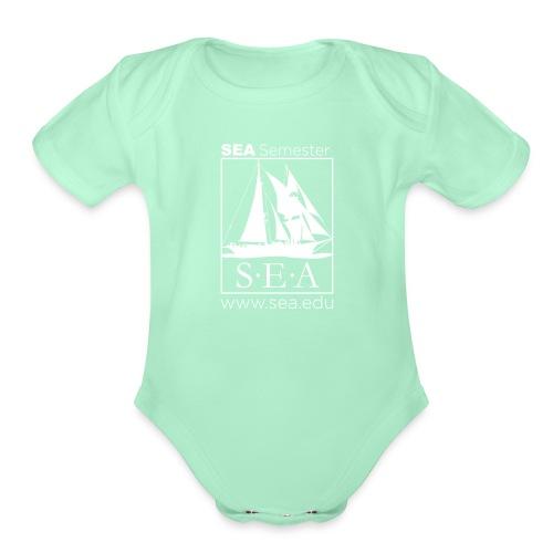 SEA_main_logo - Organic Short Sleeve Baby Bodysuit
