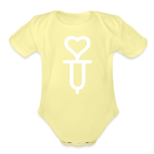Addicted to love - Organic Short Sleeve Baby Bodysuit