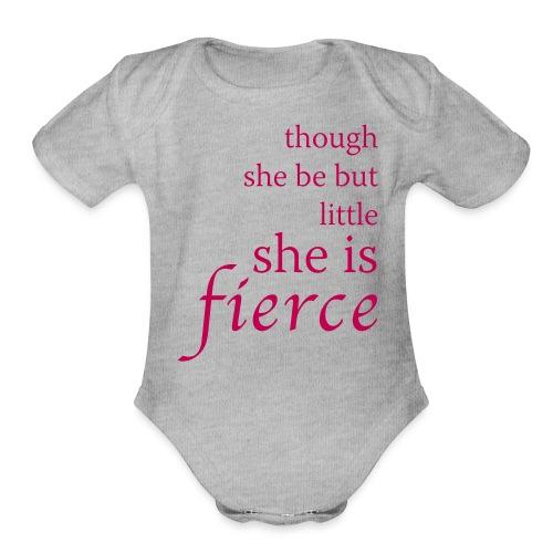 She Is Fierce - Organic Short Sleeve Baby Bodysuit
