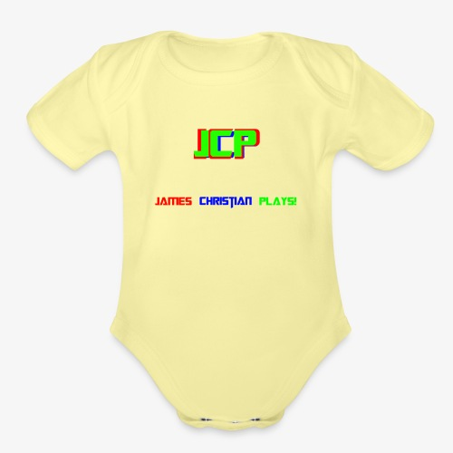 James Christian Plays! - Organic Short Sleeve Baby Bodysuit
