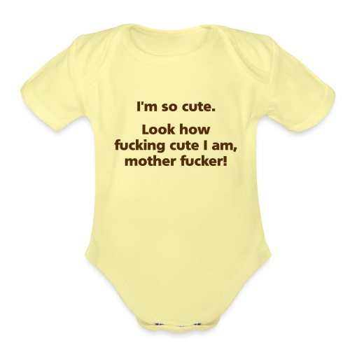 LookHowCute - Organic Short Sleeve Baby Bodysuit