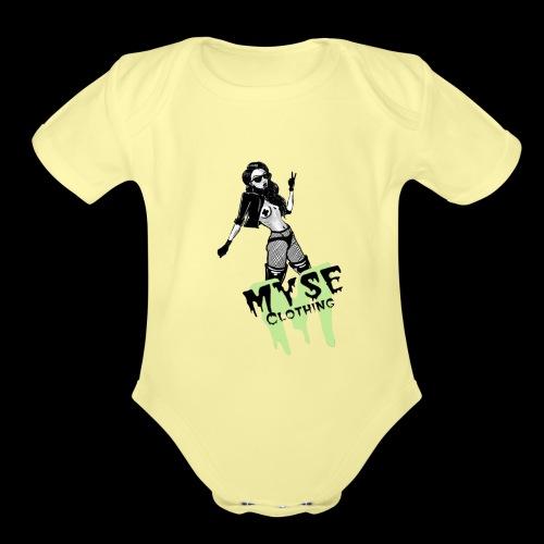 MYSE Clothing - badass babe - Organic Short Sleeve Baby Bodysuit